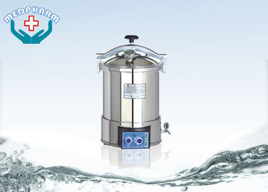 China Hand Wheel Locked Medical Autoclave Sterilizer With Electric Heated Function supplier