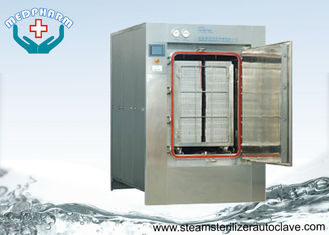 China Automatic Hinge Door Medical Waste Autoclave Steam Sterilizer With Touch Screen PLC System supplier