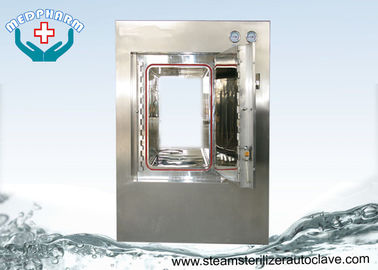 Motorized Hinge Door Pure Steam Pass Through Autoclave With Digital PLC Display