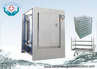 China Stainless Steel 304 Pass Through Autoclave With HMI Control System supplier