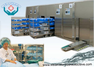 China Front Loading Sliding Door Hospital Steam Sterilizer With High Capacity Water Cooled Condenser supplier