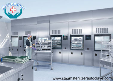 China Polished Hospital Steam Sterilizer With Silicone Seal And Safety Interlock supplier