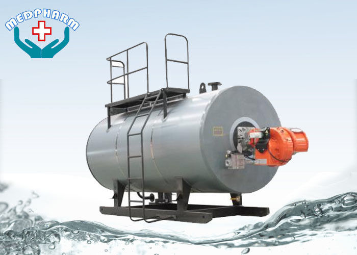Oil / Hot Water Industrial Steam Boiler Freezing Cold Winter Night ...