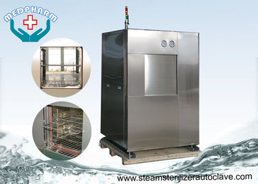 China Double Sliding Doors Pharmaceutical Autoclave With Built In Printer And Micro Computer distributor