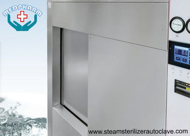 China Single Sliding Door Pharmaceutical Autoclave With Fully 304 Chamber Steel Jacket factory
