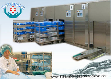 China Front Loading Sliding Door Hospital Steam Sterilizer With High Capacity Water Cooled Condenser distributor