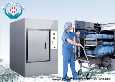 China Double Door Safety Lock Pharmaceutical Autoclave With Colored Touch Screen distributor