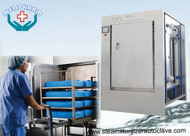 China Mechanical Hinge Single Door Pharmaceutical Autoclave With 0.2μm Membrane Type Air Filter distributor