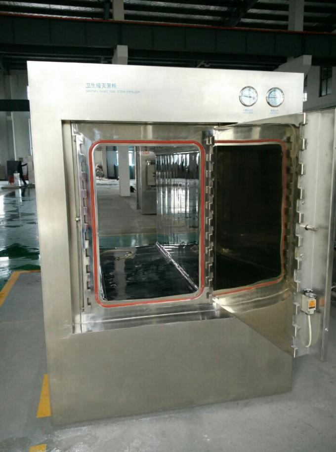 Compact Double Door Hospital Steam Sterilizer With User Friendly Muti level Passport Control Panel