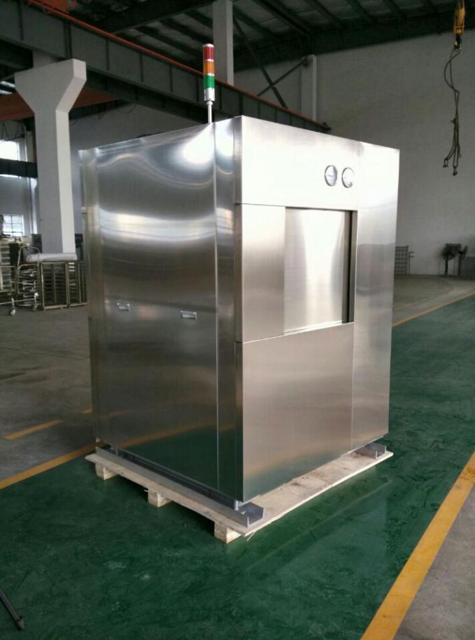 Electric Vertical Lift Double Door Autoclave With Easy Access Loading Trolleys
