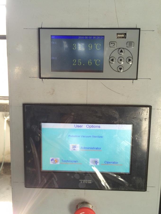 Big Touch Screen Interface Pass Through Autoclave 600 Liter For Pharmaceutical Industry