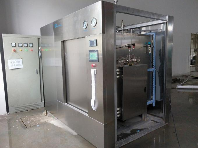 1200 Liter Large Steam Sterilizer With Safety Valves In Jacket and Chamber