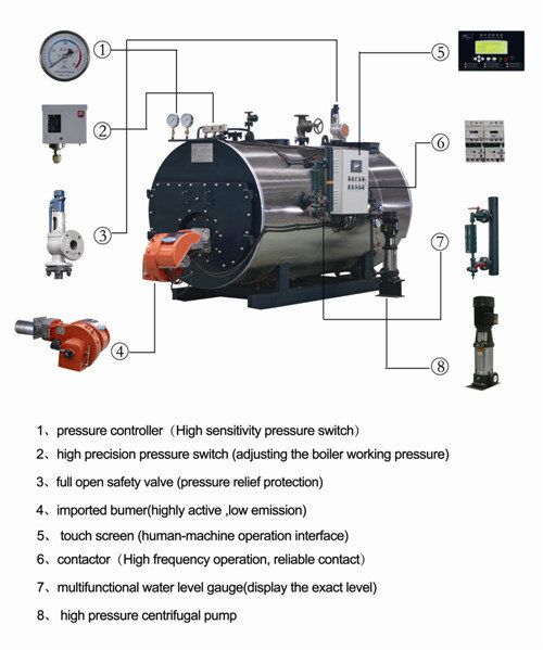 Horizontal Wetback Industrial Steam Boiler With High Thermal Efficiency
